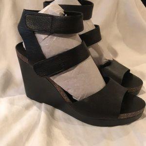 Via Spiga Shoes - Via Spiga leather Wedge sandals 8.5